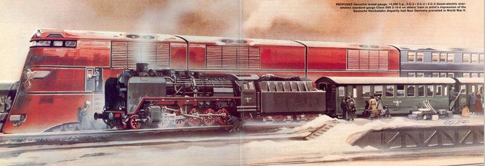 Гигантские поезда Гитлера поезд, история, Адольф Гитлер, Breitspurbahn, гигантские поезда, длиннопост