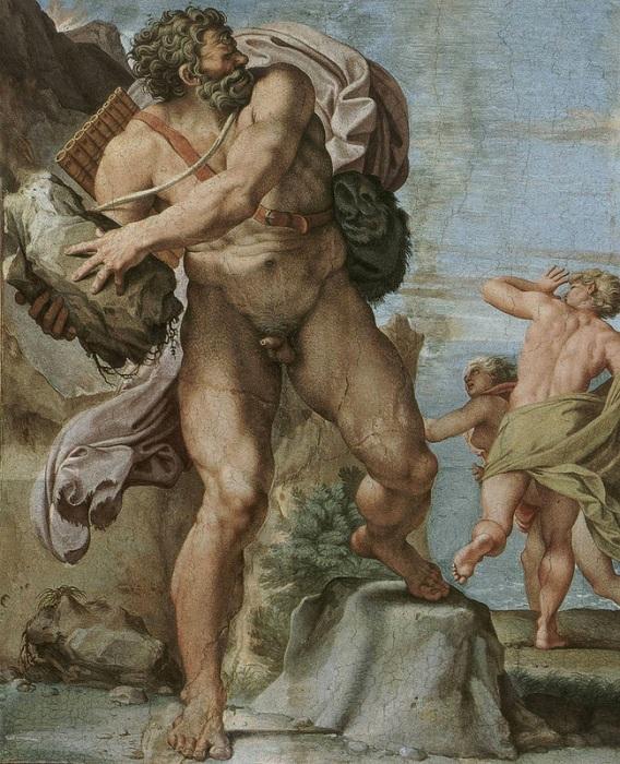 «Циклоп Полифем». Фреска Палаццо Фарнезе. Рим. Автор: Аннибале Карраччи.